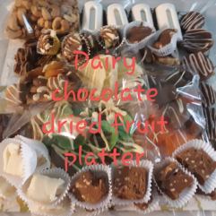 Dairy Chocolate and Dried Fruit Platter